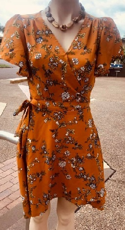 Mustard Floral Wrap S12,14