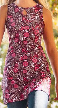 Running Dress - Burgandy Print