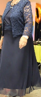 Navy Dress with Lace Jacket S16,20