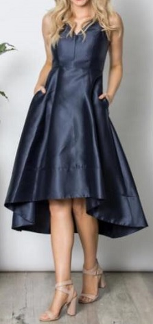 Navy High Low Dress S10