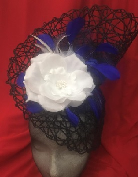 Navy White Flower Blue Feathers sold