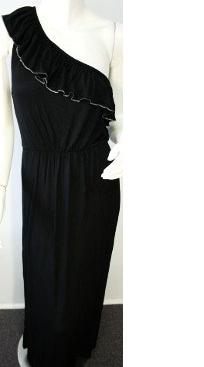 Blk One Shoulder Maxi S8,10