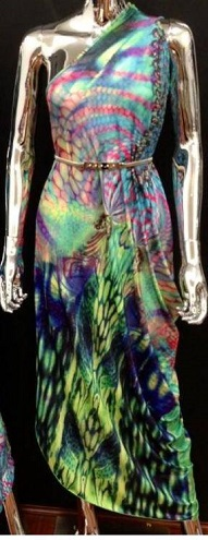 One Shoulder Rainbow Maxi S10/14