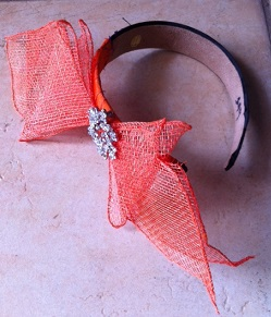 LA Frockme Orange Bow Headband sold