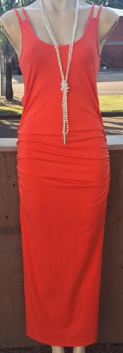 Orange Bodycon Maxi S10