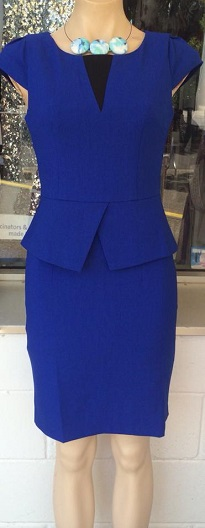 Blue Peplum Dress S8