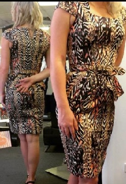 Peplum Brown Print 6/8,12/14