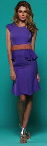 Peplum Dress Purple S8/10,14  Red S10/12,14,16