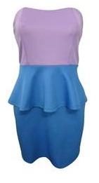 Blue Purple Peplum Dress S8,10,12,14