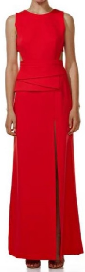 Red Peplum Gown S12