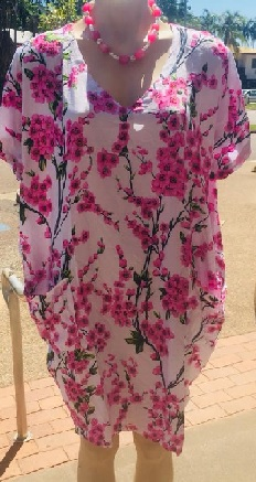 Pink Floral Miricle Dress S8