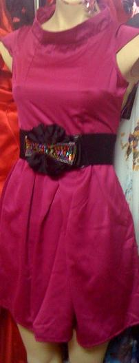 Pink High Neck Dress S6