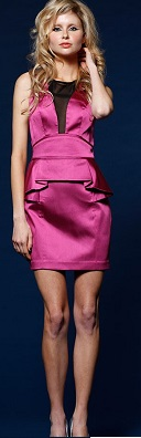 Pink Peplum Dress S14