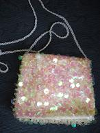 Pale Pink Sequined Bag SALE $15