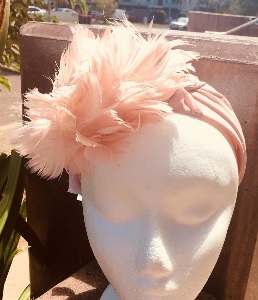 Pink Feather Fascinator SOLD