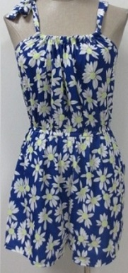 Playsuit Blue Flower S6,8,10,12