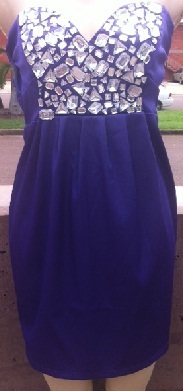 Purple Bling Dress with optional straps S8,12