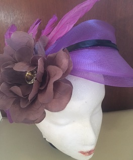 Purple Hat Flower Feather $69