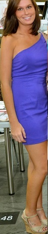 One Shoulder Purple Fitted Dress S10/12