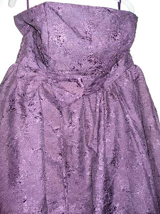 Strapless party Balloon dress purple S16