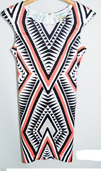 Mara Aztec Dress Coral only S 10,12