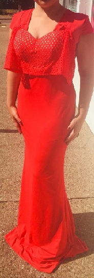 Red Bodycon Gown S12