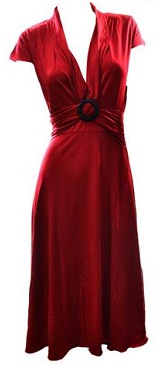 Red V Neck Dress S8,10,12