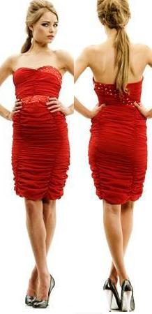 Red Strapless Dress S4,6,8