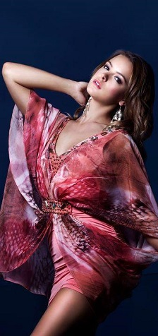 Kaftan Apricot Sold Purple/Blue S16