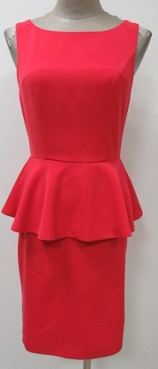 Red/Coral Peplum Dress S6/8