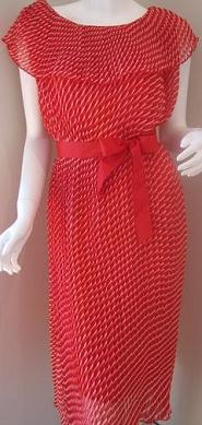 Red Pleated Dress One Size fits most