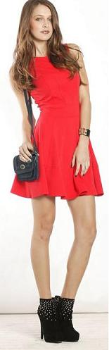The Red Skater Dress Size 14