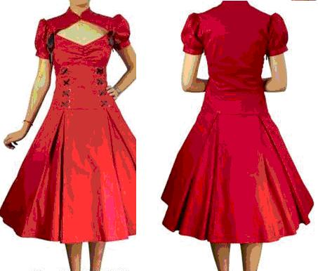 Red Cotton Swing Dress S18/20