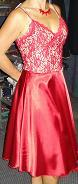 Red Satin/Tulle Dress S8,10,14