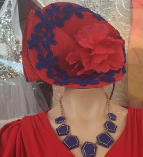 Red with Blue Lace $79
