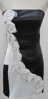 White Rose Black Dress S8,10