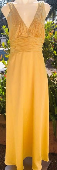 Satin Yellow Gown S8/10