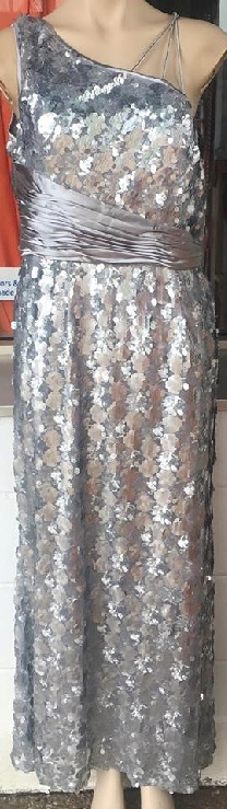 Sequin Gown Silver S12/14