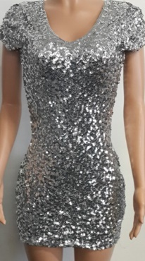 Silver Sequin Dress Sold out Green S8/10 Red S8/10
