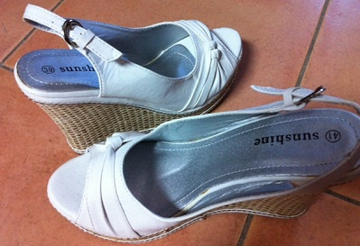White Wedge Shoe S39,40