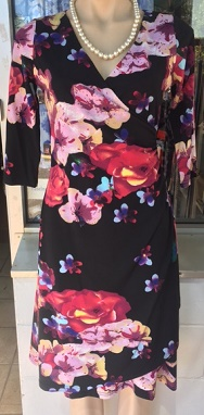 Sleeved Black Floral S8,12,14