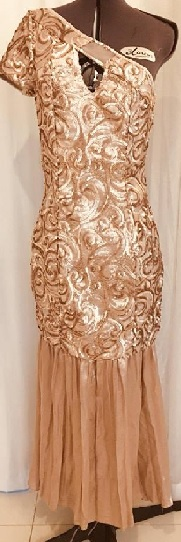 Sparkle Gold Body Con Gown S8
