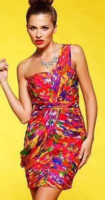 One Shoulder Spirit Free Dress Silk S10,12
