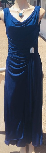 Steal Blue Cowl Neck Gown S12,16