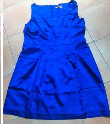 Stella Satin Dress Blue Plus Size 20 - 22 , Red Size 20 - 22