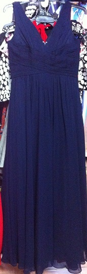 Chiffon Flowy Gown Navy  S8,10,12  Coral S20  (can order up to S22)