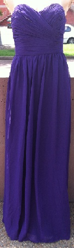 Princess Chiffon  Gown -  Purple S10, Blue 12,  Black    Aqua S12,18