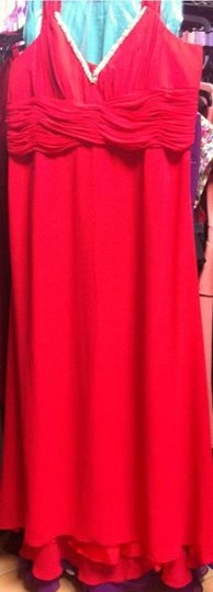 Red Gown with beaded front S20/22
