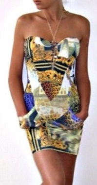 Strapless Print Dress S8