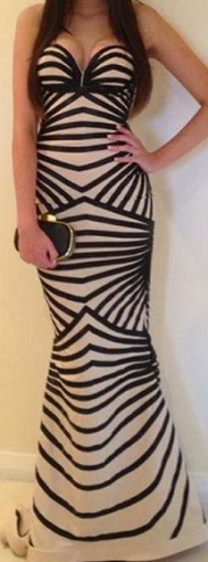 Striped Gown  - SOLD OUT however Can be ordered